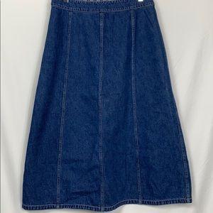 Norton Studio blue jean denim long skirt size 12P